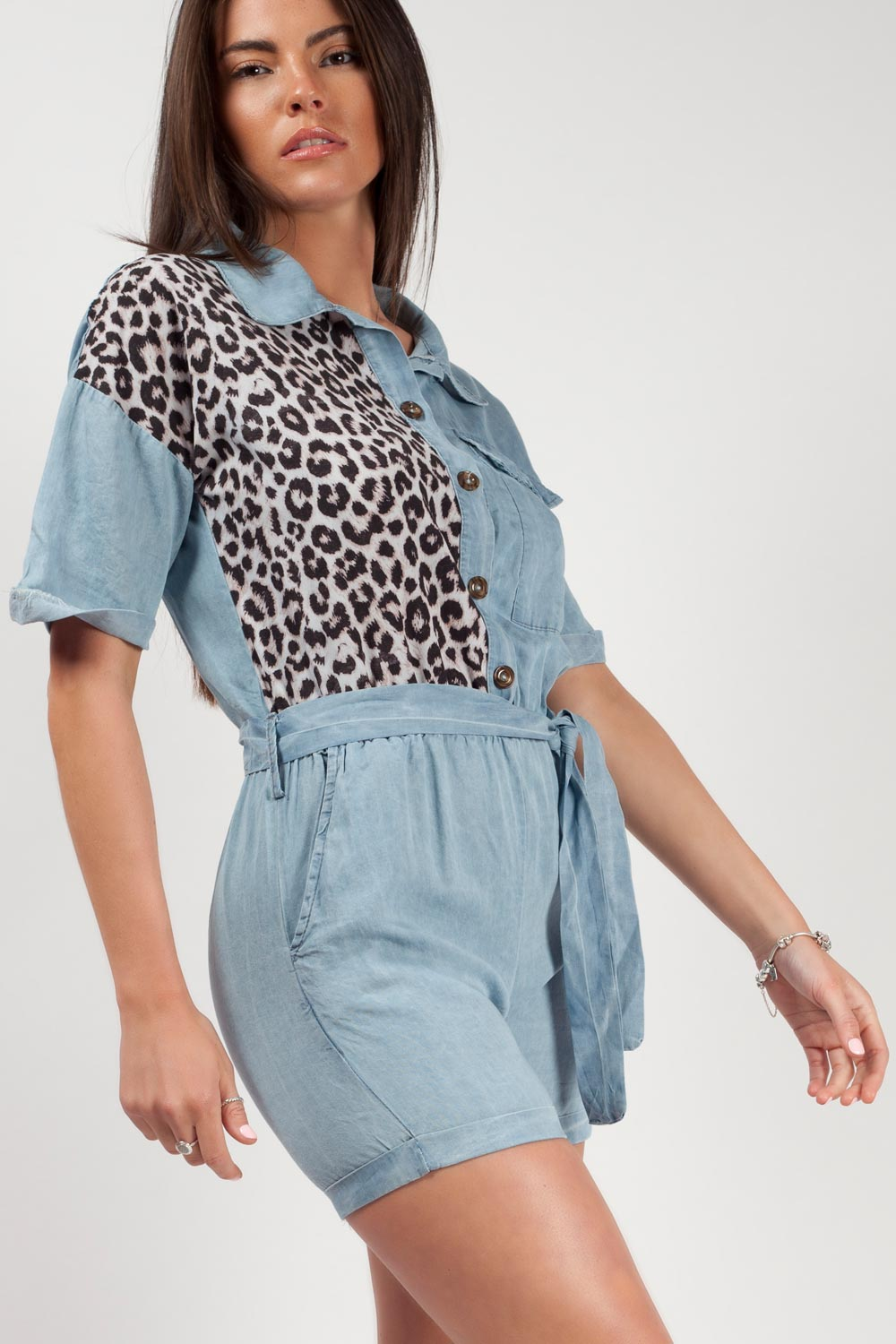 denim playsuit uk