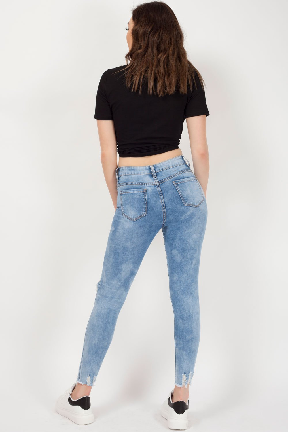 ripped skinny jeans for womens