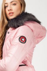 pink winter jackets for women
