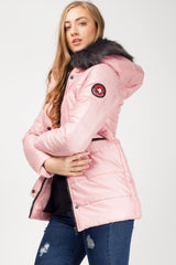 pink coats for women