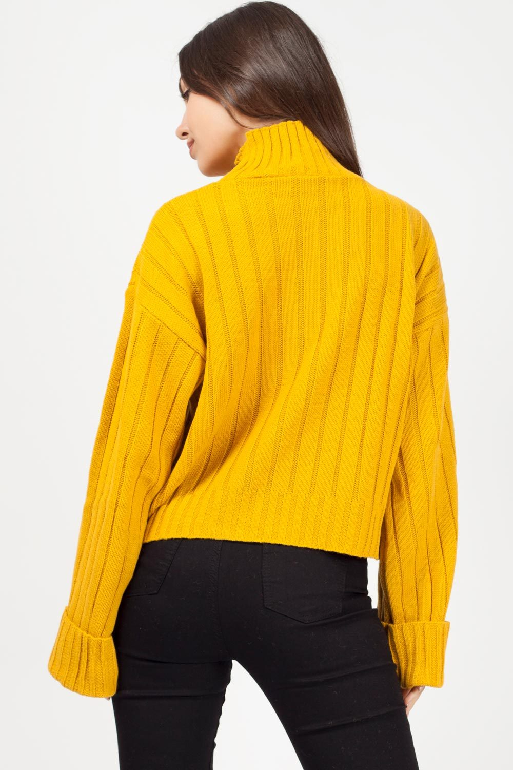 mustard oversized jumper uk