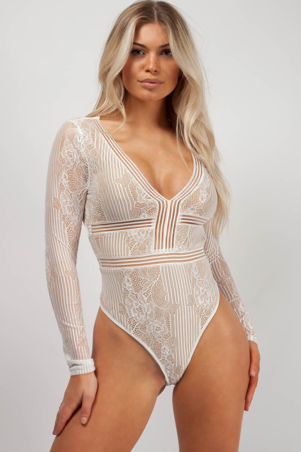 long sleeve lace bodysuit styledup fashion