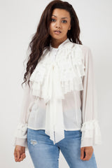 ruffle blouse white styledup fashion