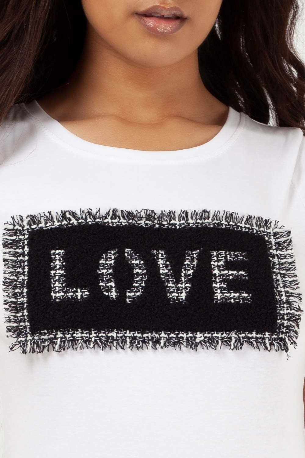 love slogan t shirt