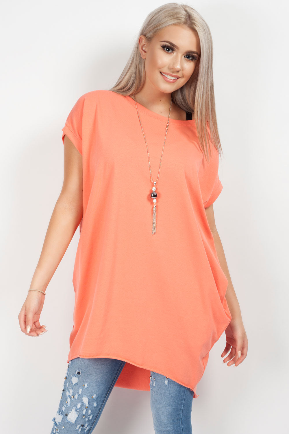 summer holiday top coral