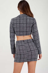 tweed mini skirt and blazer set uk size 6