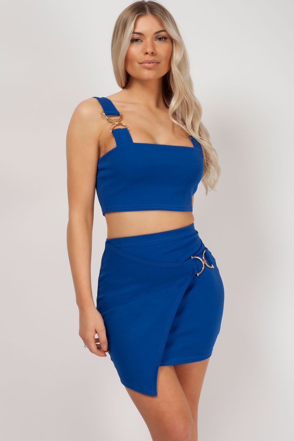 skirt co ord royal blue