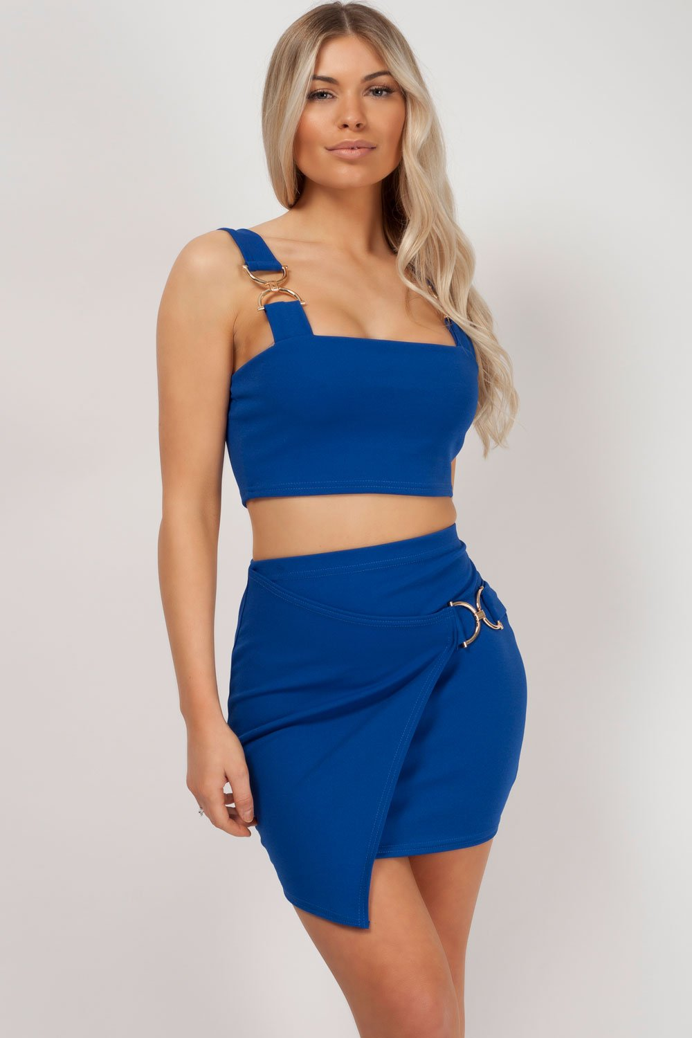 two piece set royal blue styledup fashion