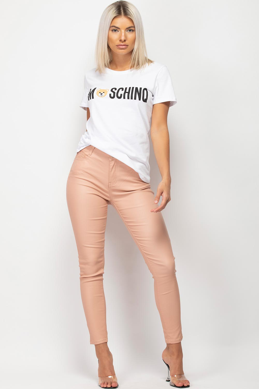 white moschino inspired t shirt