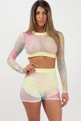 long sleeve crop top and shorts two piece set styledup fashion