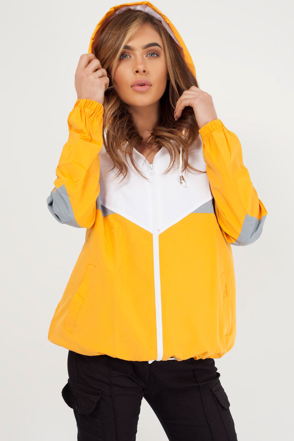 windbreaker mustard jacket women styledup fashion