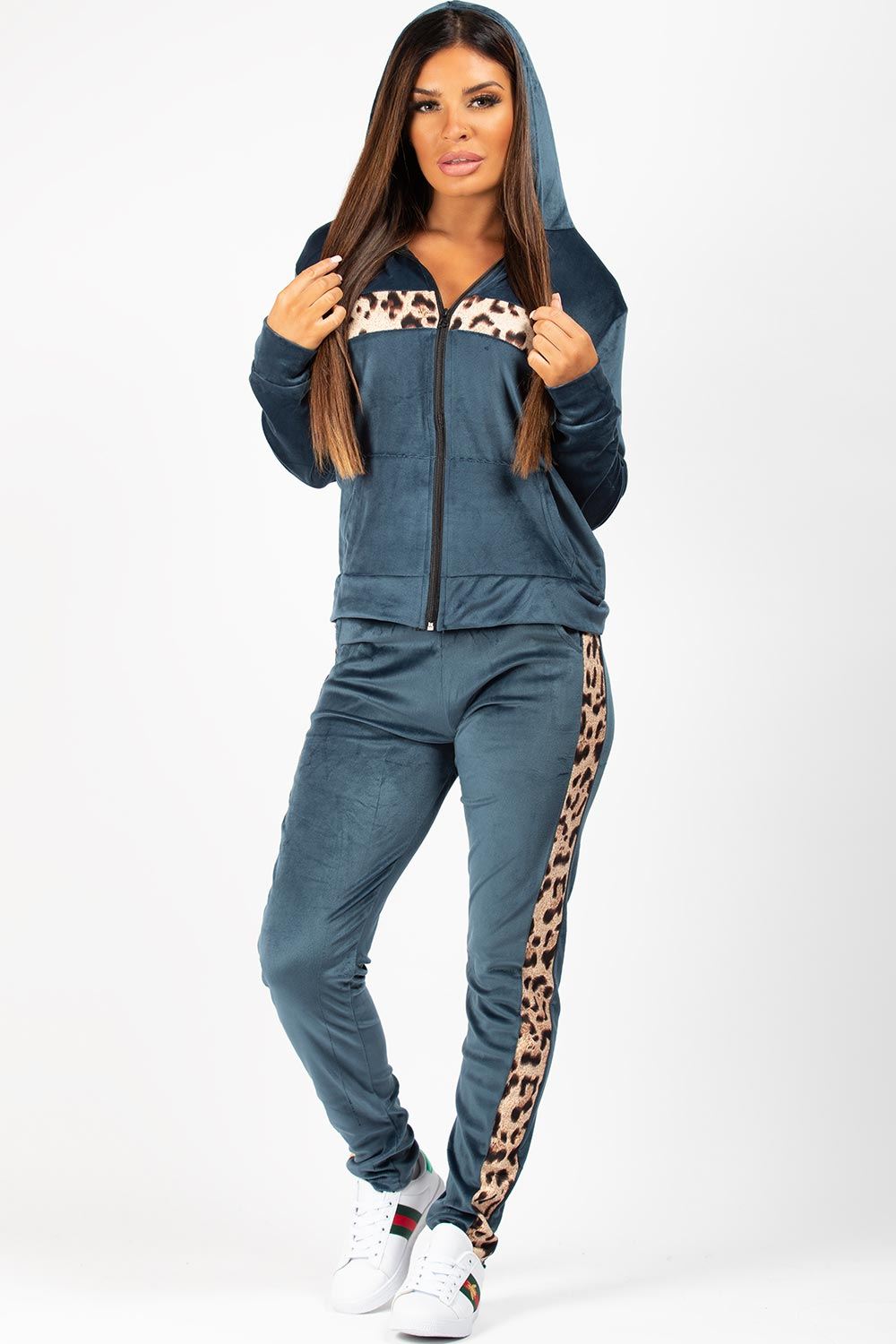 velour tracksuit navy