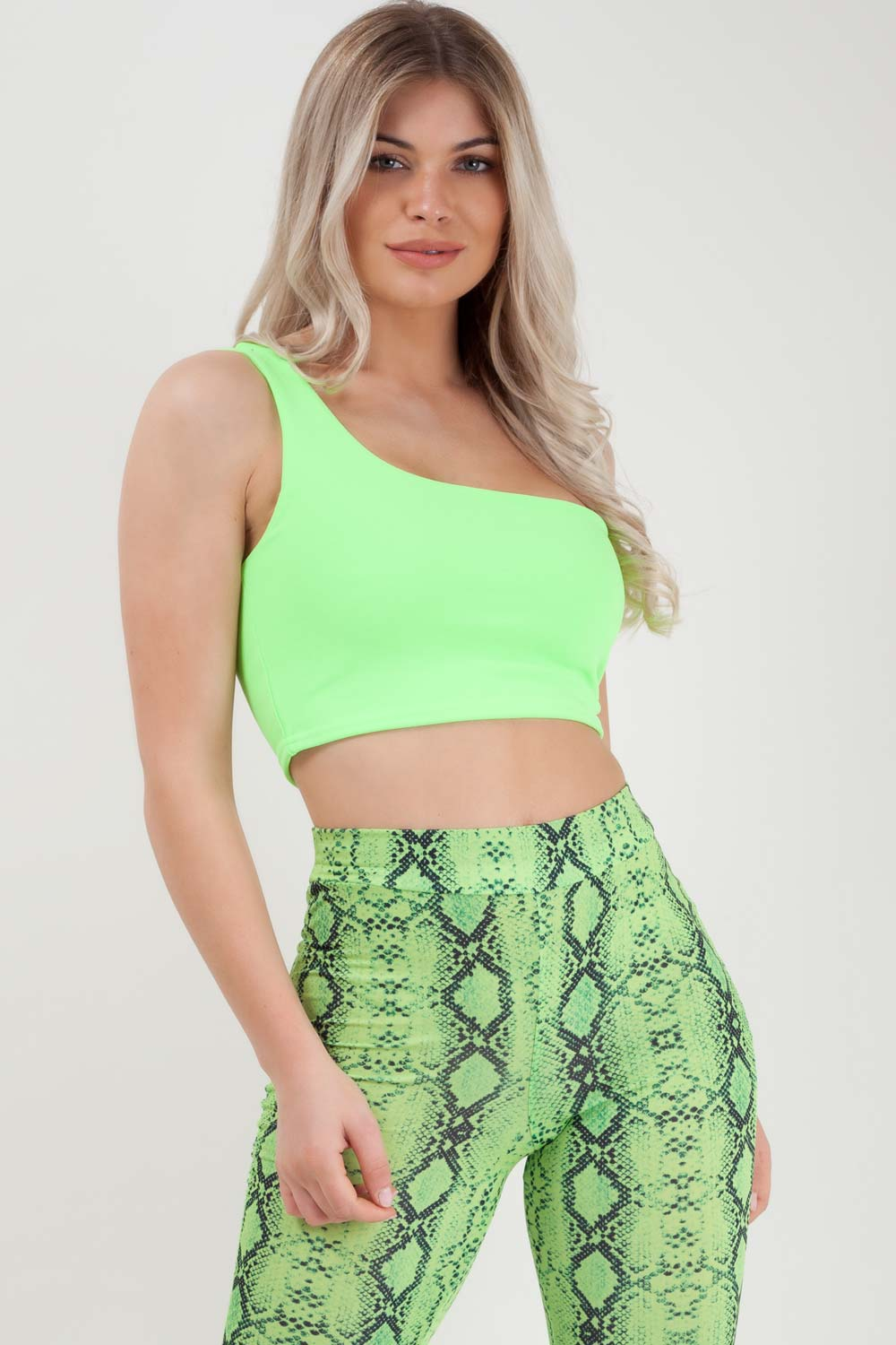 neon green crop top styledup fashion