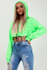 crop hoodie neon green styledup fashion