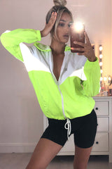 reflective festival jacket neon green