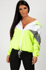 neon green festival windbreaker