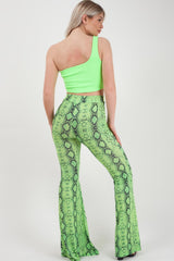 snake print high waisted trousers uk size 6