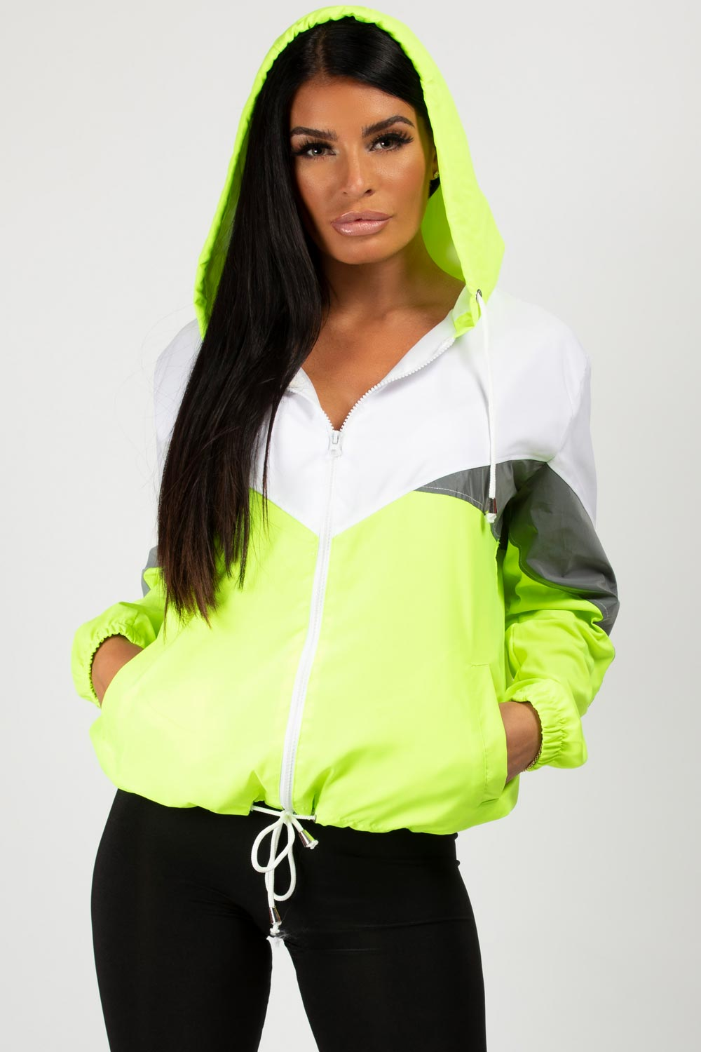 festival windbreaker neon green