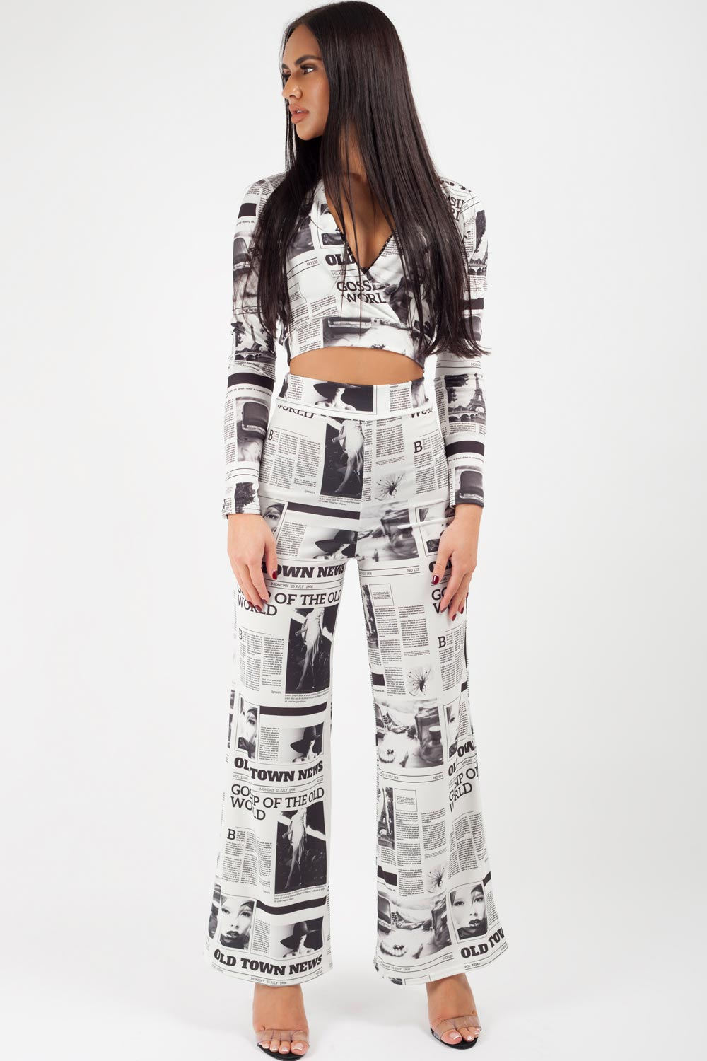 newspaper print trousers uk