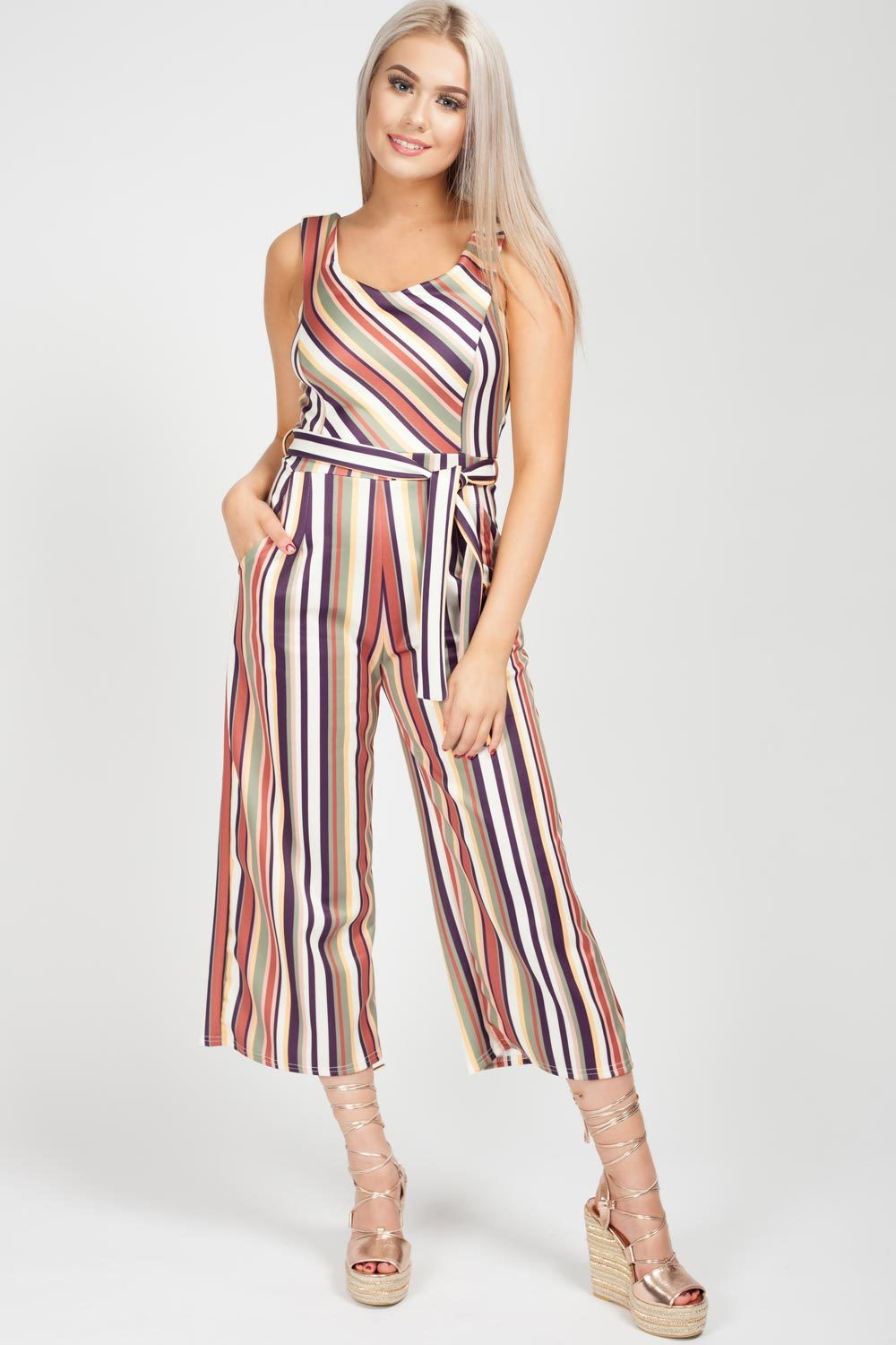 stripe culotte jumpsuit uk