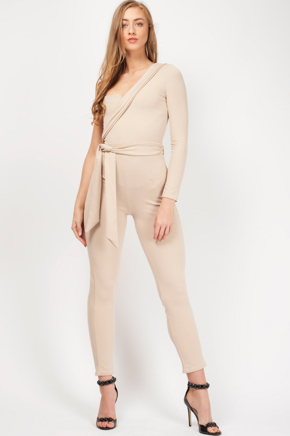 special occasion jumpsuit nude