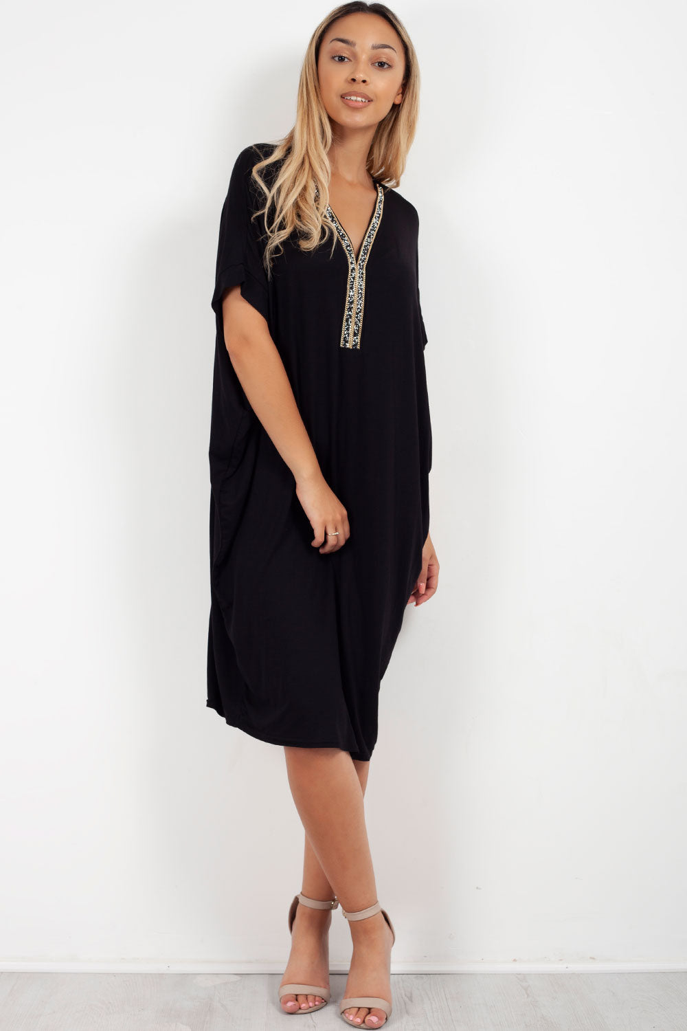 womens black oversized top