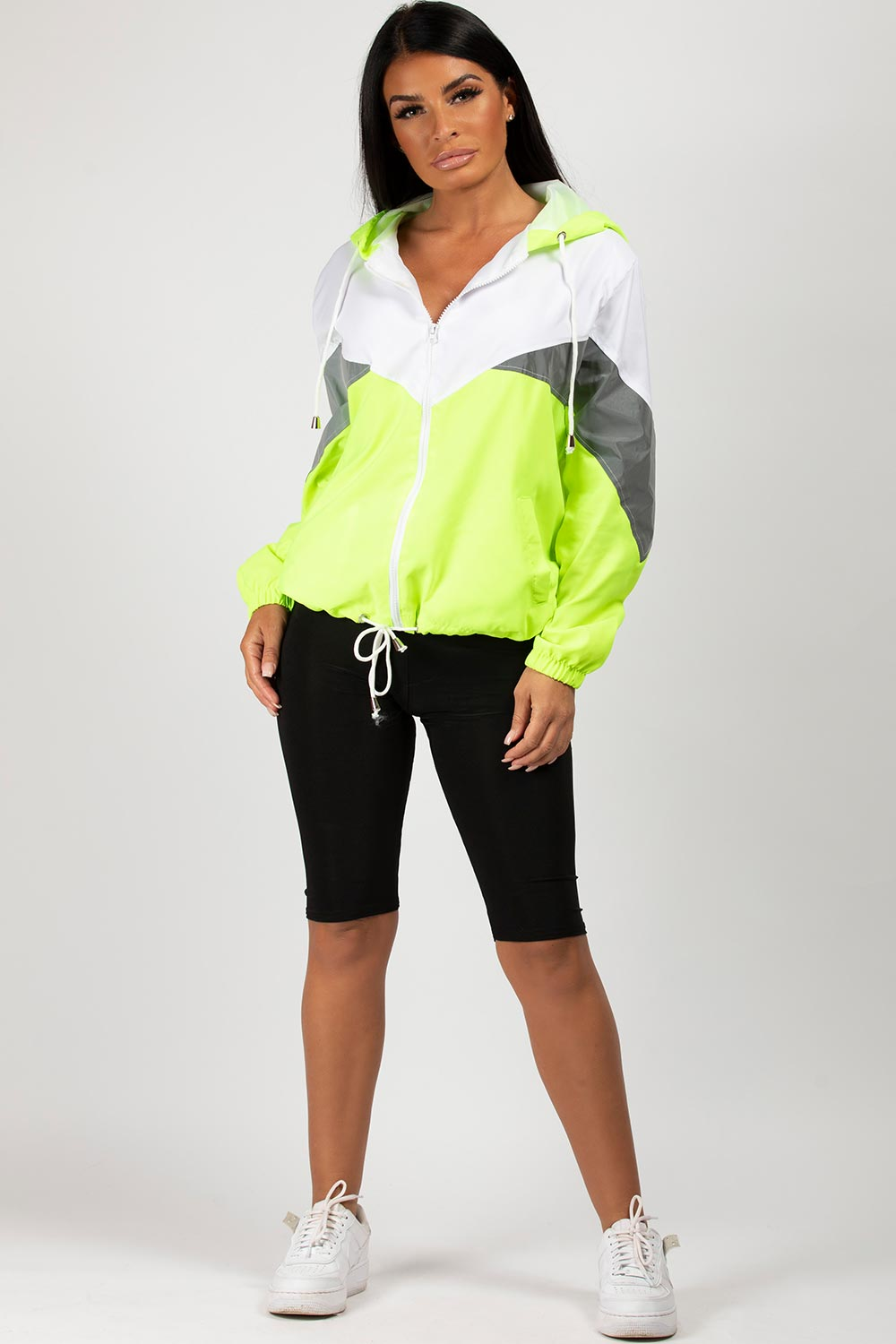 neon green oversized festival jacket