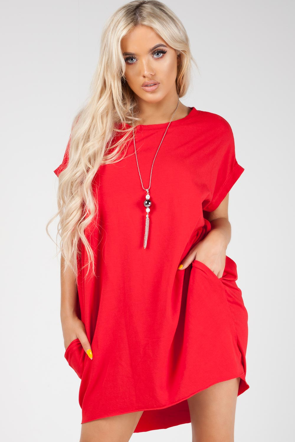 oversized top red