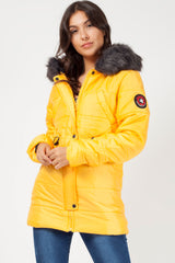 mustard padded coat uk