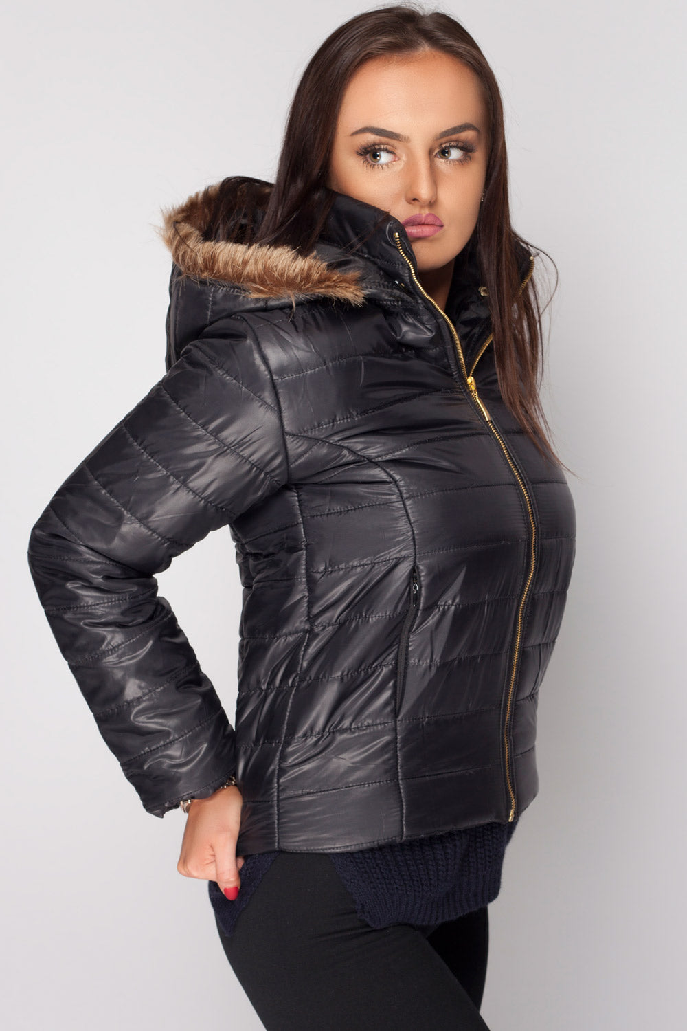 womens weather resistant jacket black