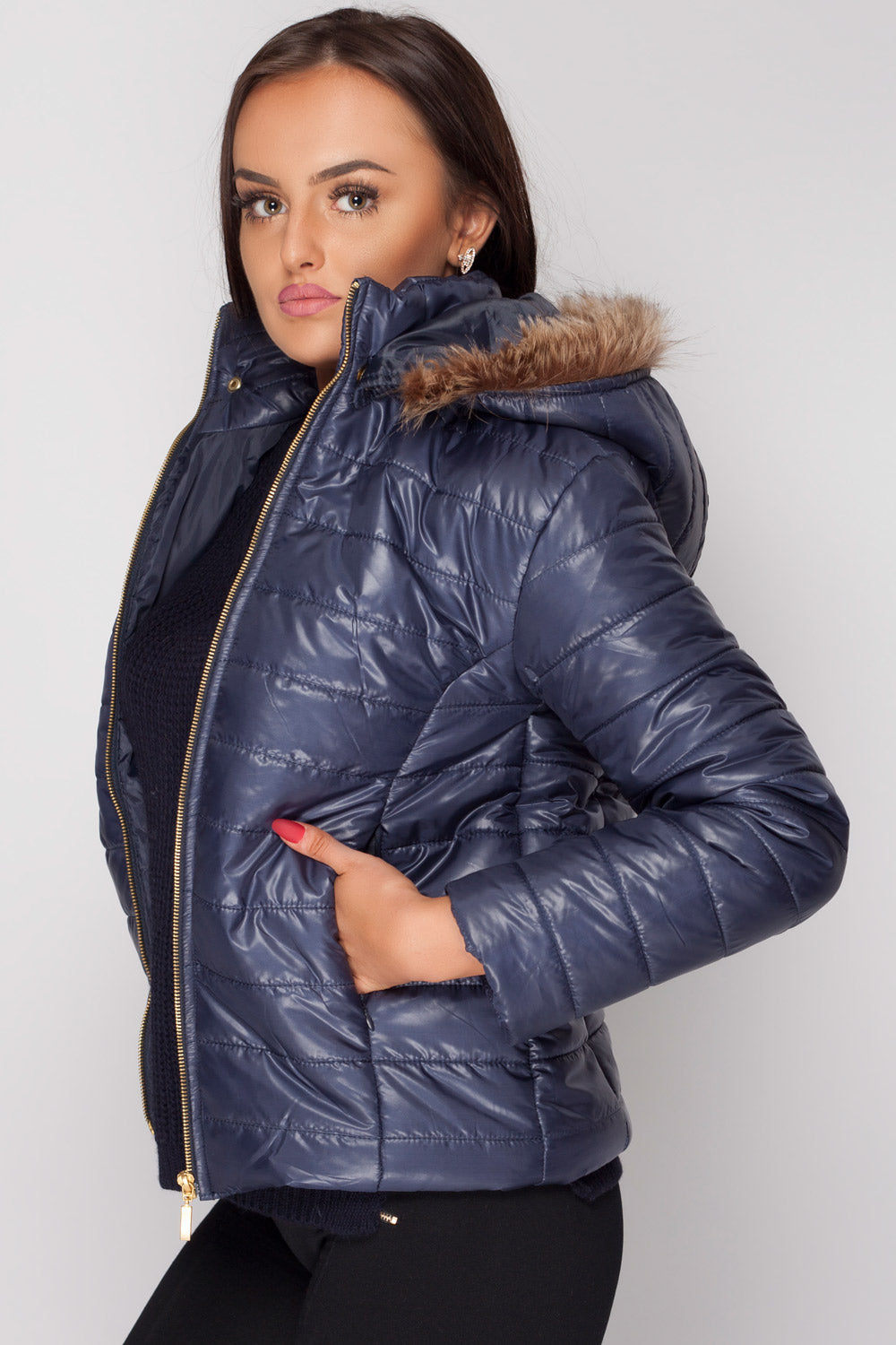 womens weatherproof jacket navy