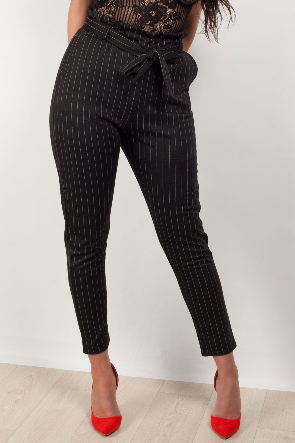 paperbag trousers black