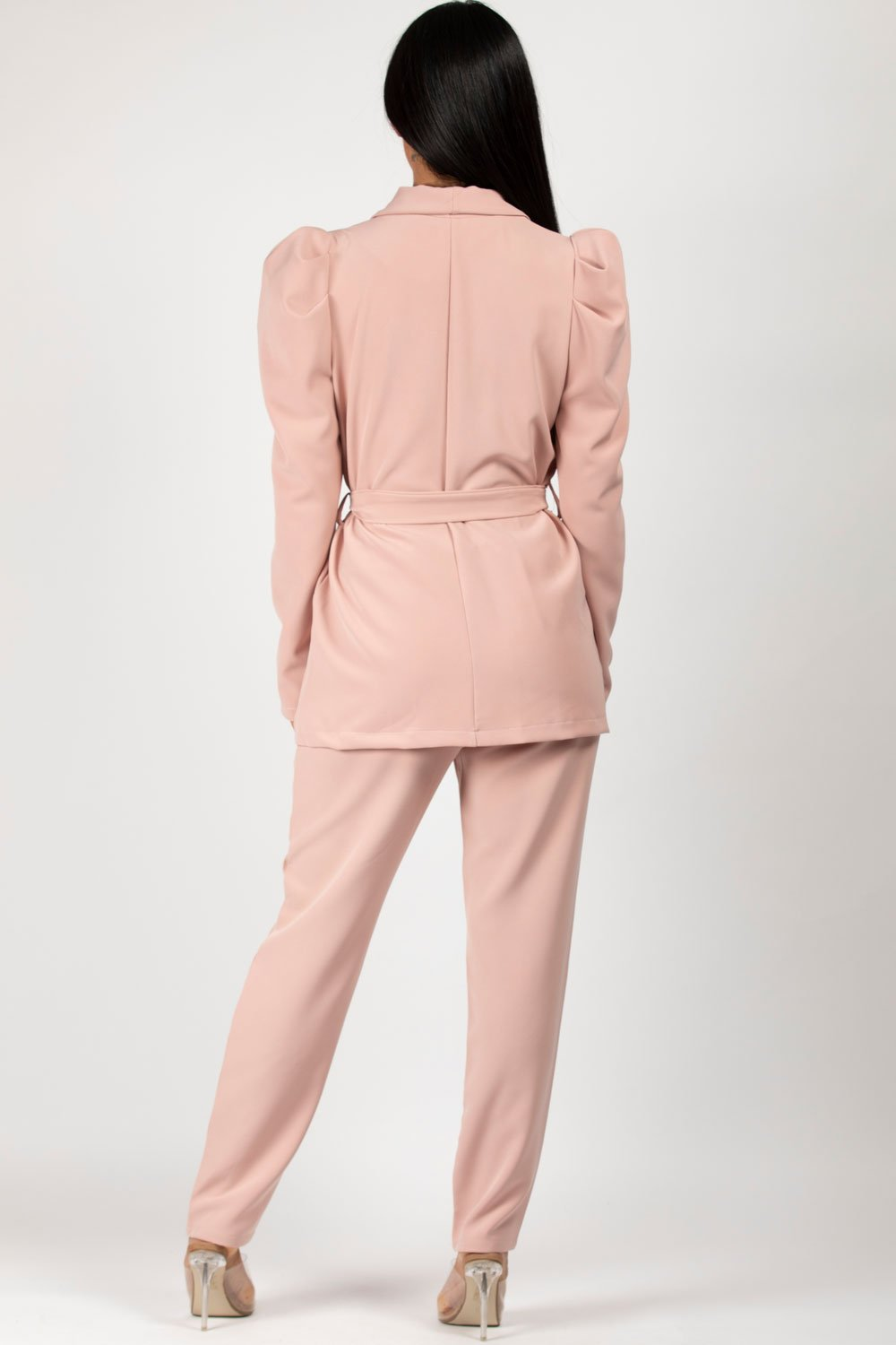 pink blazer and trousers set styledup fashion
