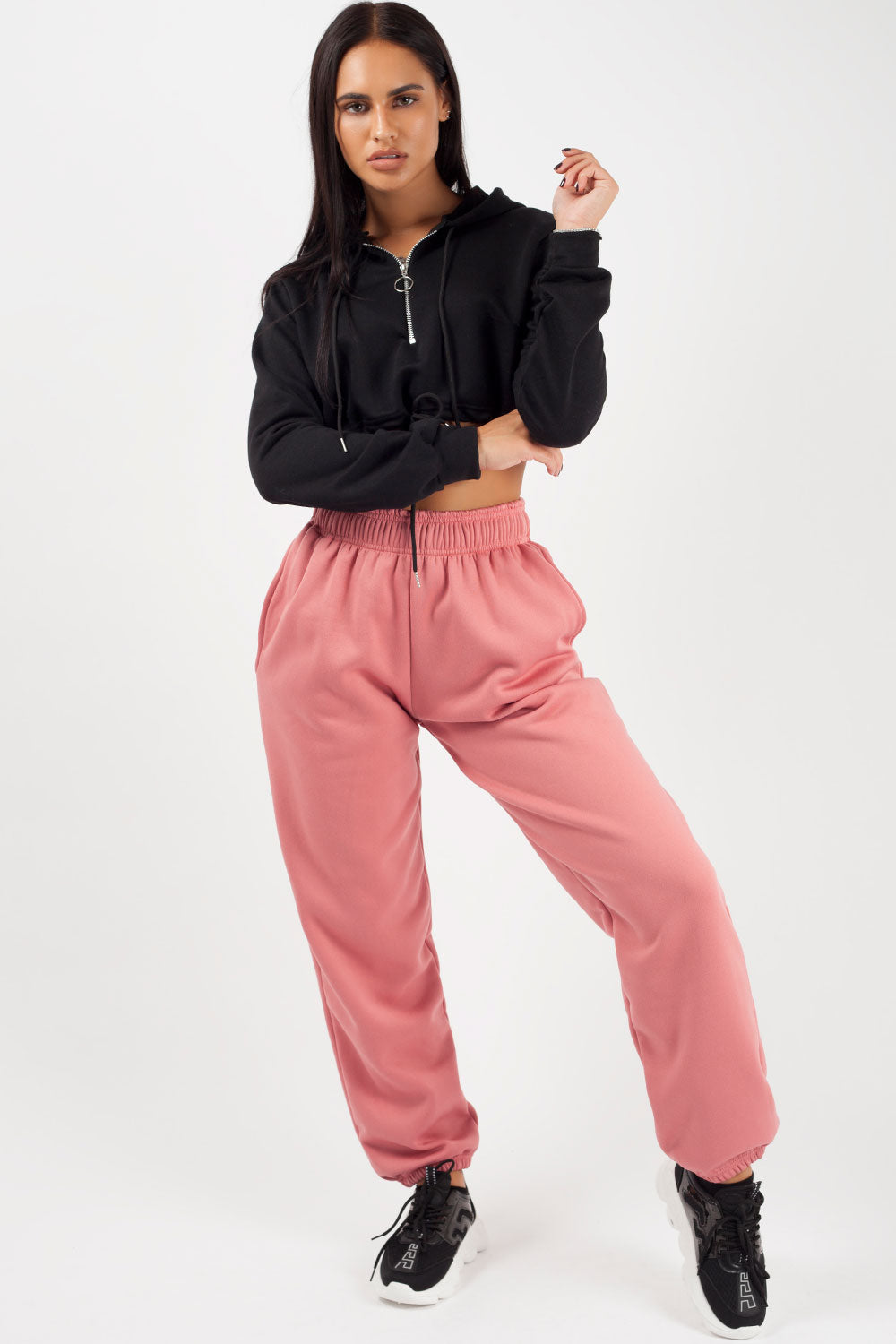 womens pink joggers
