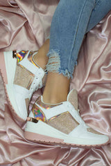 rose gold chunky trainers