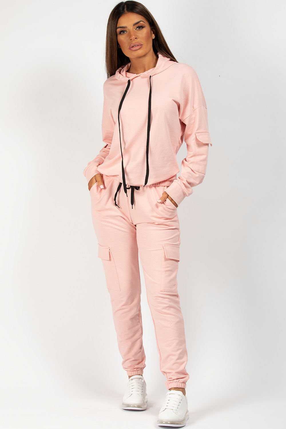pink hooded loungewear co ord styledup fashion