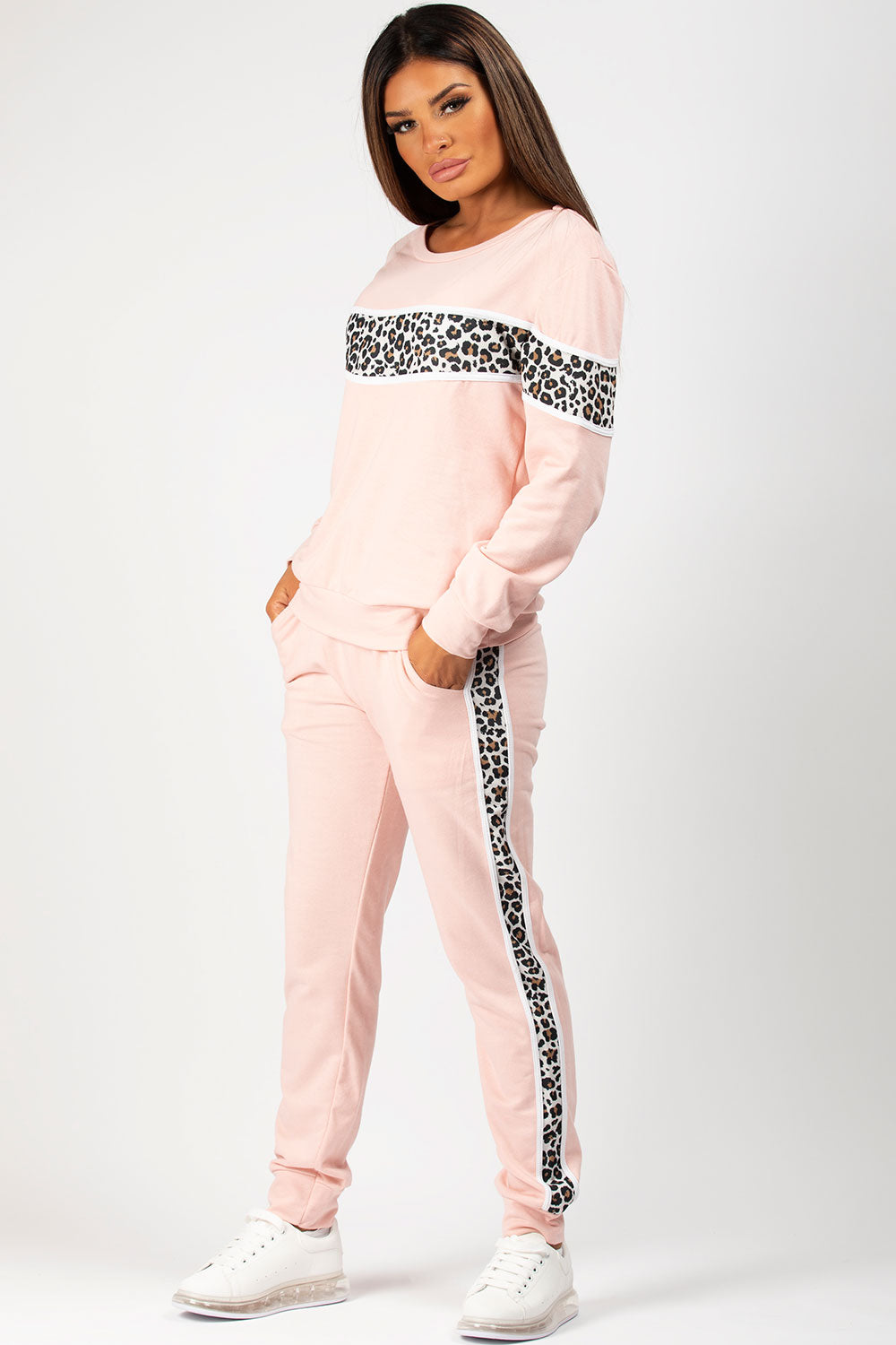 pink oversized loungewear set
