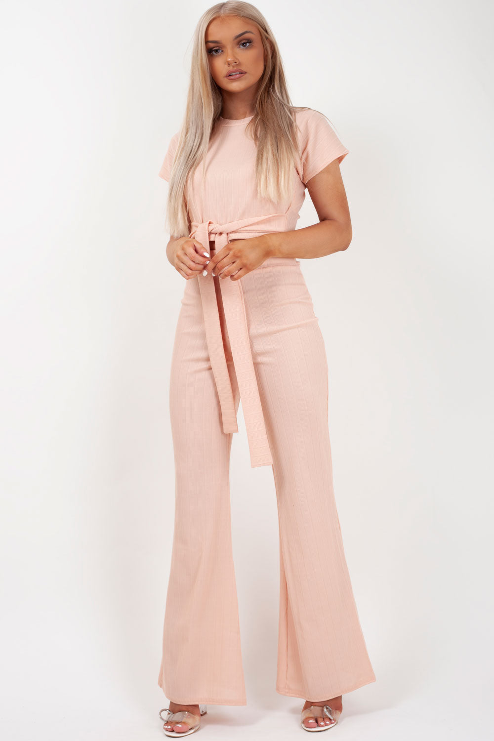 knitted loungewear pink