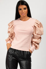 pink puff sleeve top styledup fashion