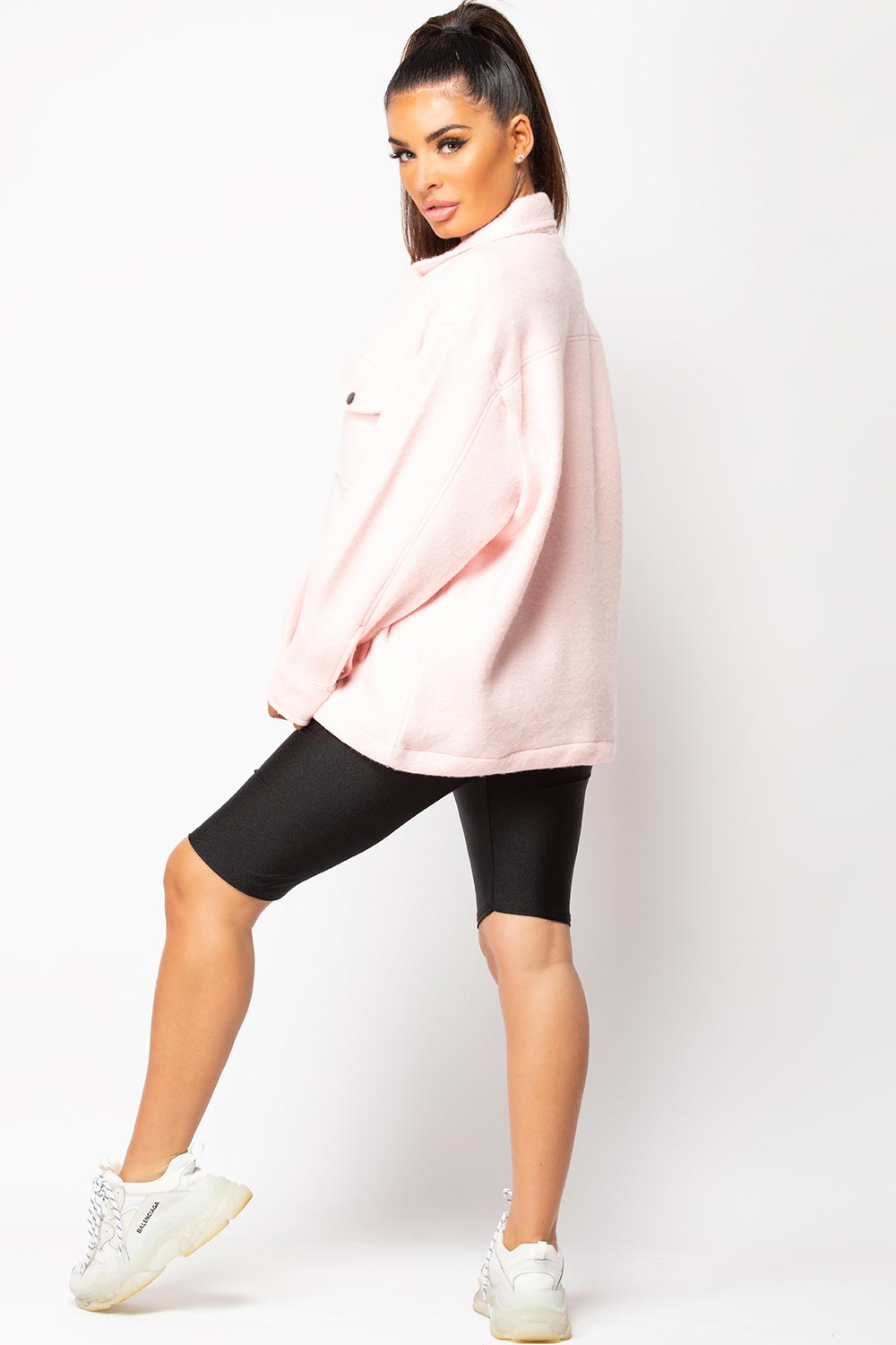 pink shacket womens