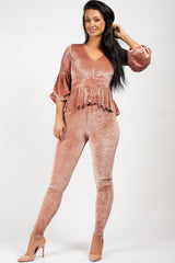 pink velour loungewear set uk