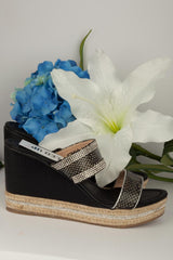 wedge shoes black uk size 3