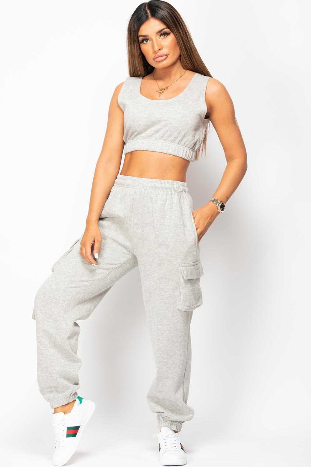 grey joggers and top lounge set