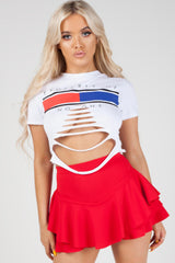 white crop top uk