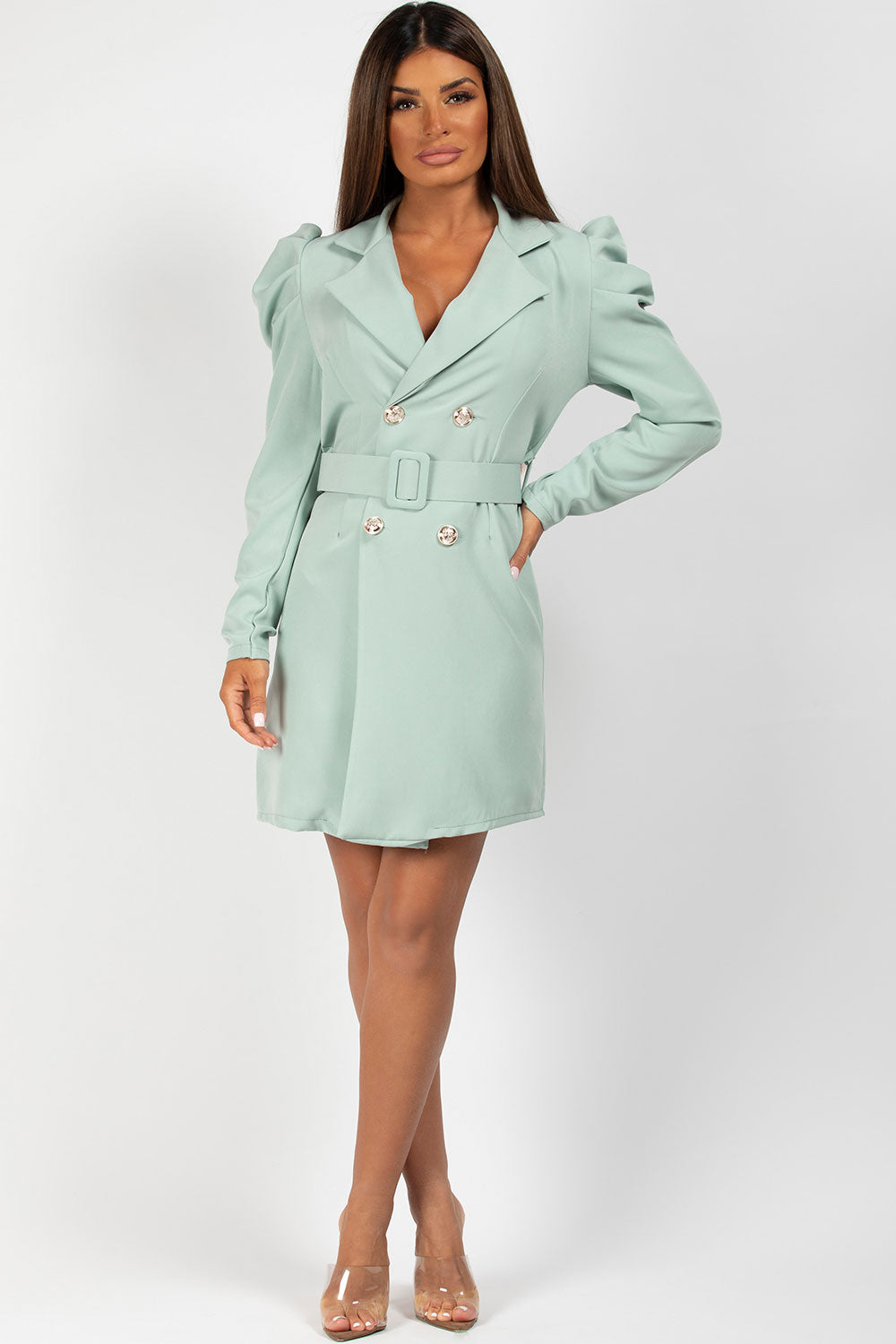 blazer dress green