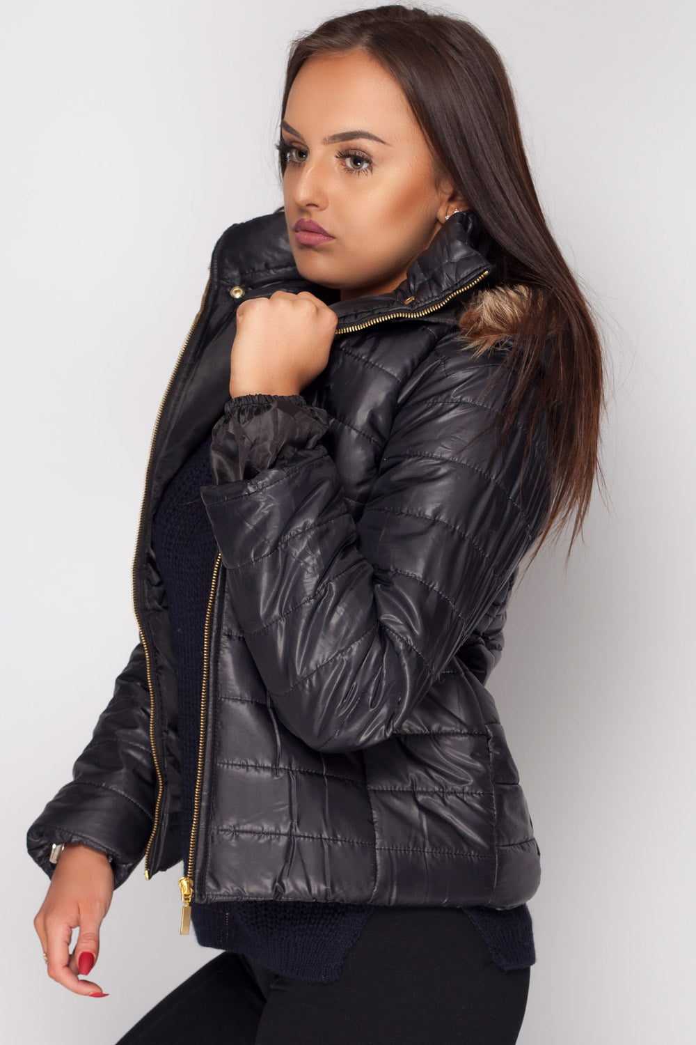 padded jacket black