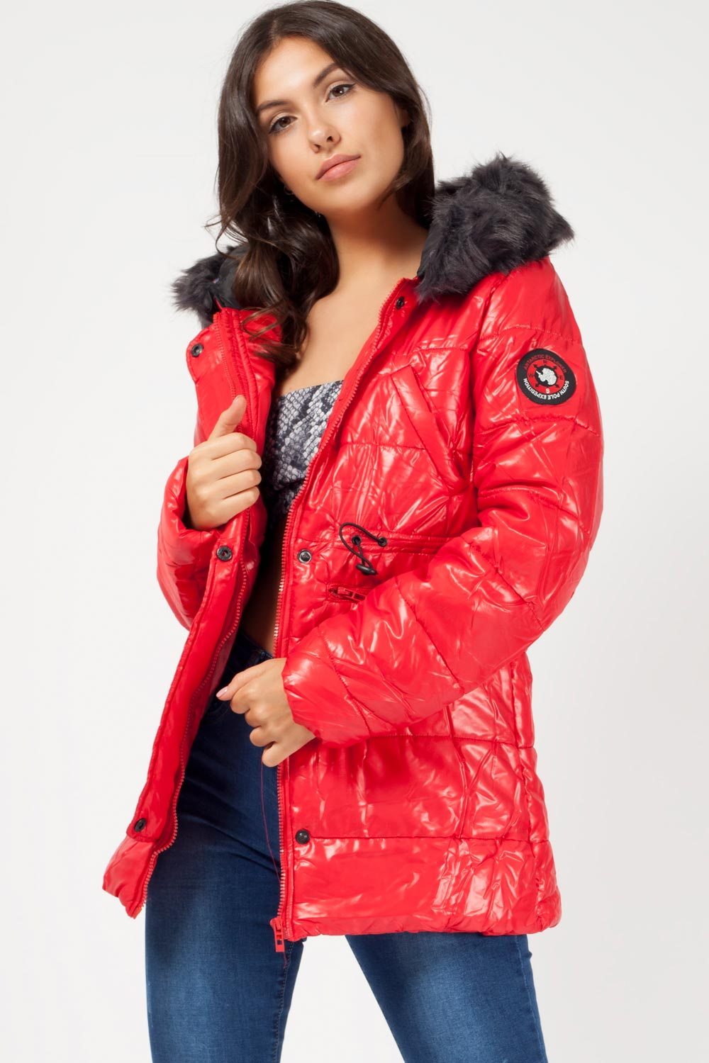 womens canada goose style coat red uk