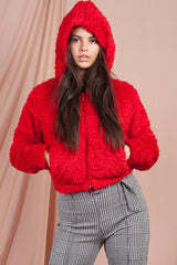 red teddy bear jacket