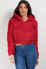 teddy jacket red on sale
