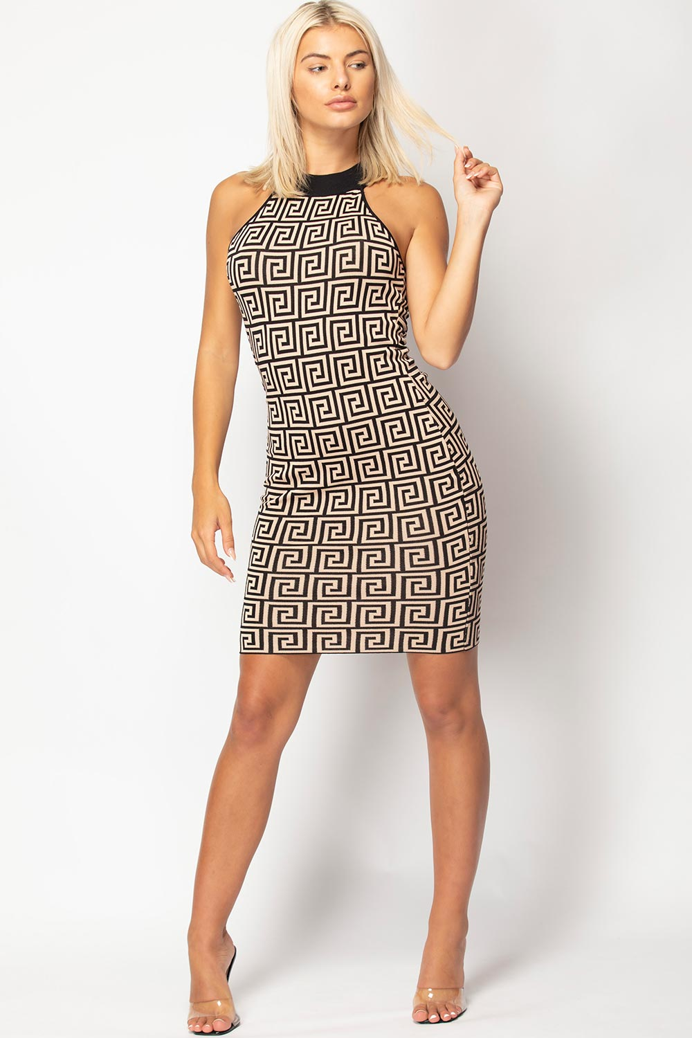 fendi inspired ribbed dress